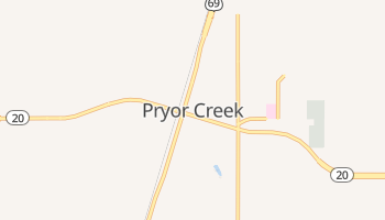Pryor, Oklahoma map
