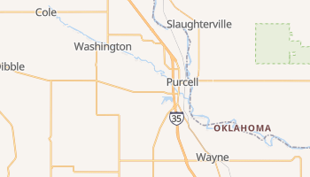 Purcell, Oklahoma map