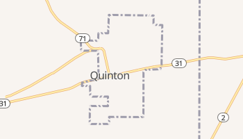 Quinton, Oklahoma map
