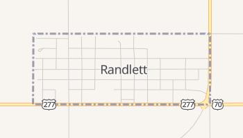 Randlett, Oklahoma map