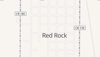 Red Rock, Oklahoma map