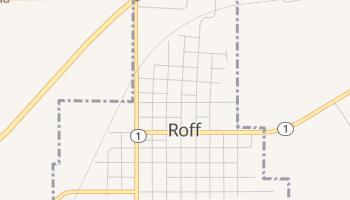 Roff, Oklahoma map
