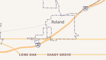 Roland, Oklahoma map