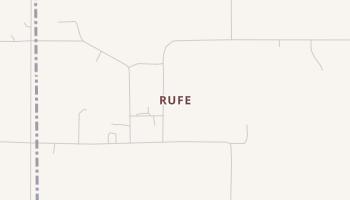 Rufe, Oklahoma map