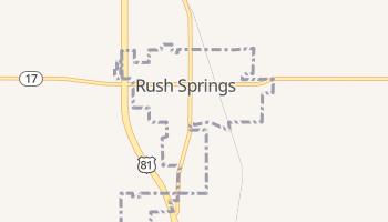 Rush Springs, Oklahoma map