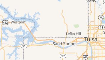 Sand Springs, Oklahoma map