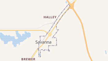 Savanna, Oklahoma map