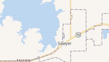 Sawyer, Oklahoma map