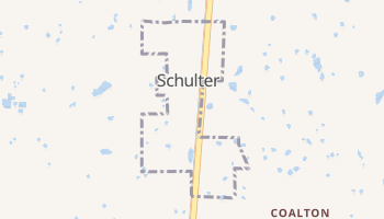 Schulter, Oklahoma map