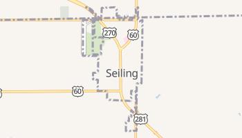 Seiling, Oklahoma map