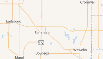 Seminole, Oklahoma map