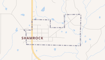 Shamrock, Oklahoma map