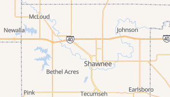 Shawnee, Oklahoma map