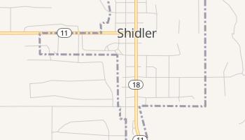 Shidler, Oklahoma map
