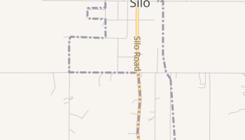 Silo, Oklahoma map
