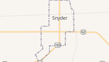Snyder, Oklahoma map
