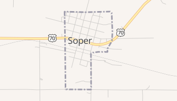 Soper, Oklahoma map