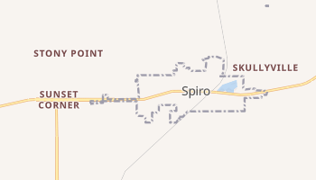 Spiro, Oklahoma map