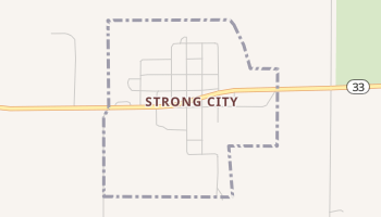 Strong City, Oklahoma map