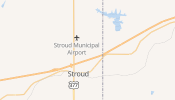 Stroud, Oklahoma map