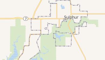 Sulphur, Oklahoma map