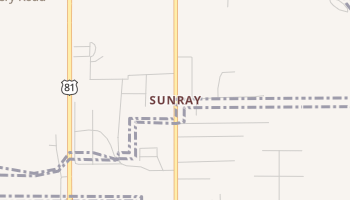 Sunray, Oklahoma map