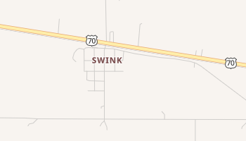 Swink, Oklahoma map
