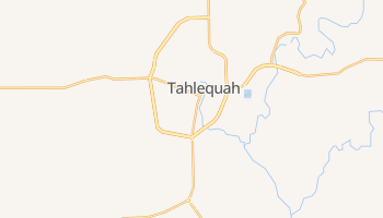 Tahlequah, Oklahoma map