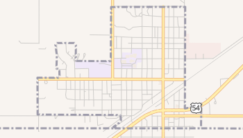 Texhoma, Oklahoma map