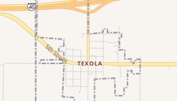 Texola, Oklahoma map