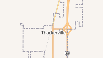 Thackerville, Oklahoma map