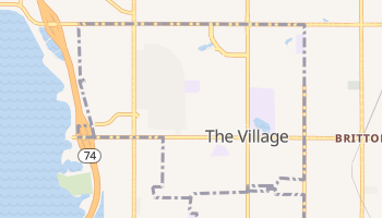 The Village, Oklahoma map