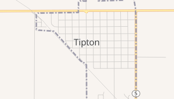 Tipton, Oklahoma map