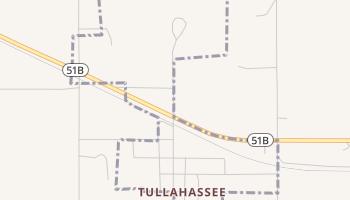 Tullahassee, Oklahoma map