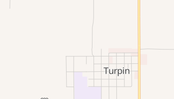 Turpin, Oklahoma map