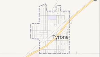 Tyrone, Oklahoma map
