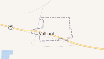 Valliant, Oklahoma map