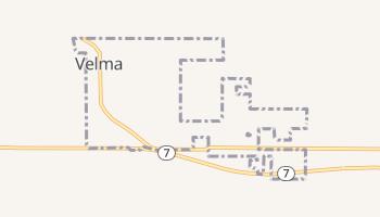 Velma, Oklahoma map