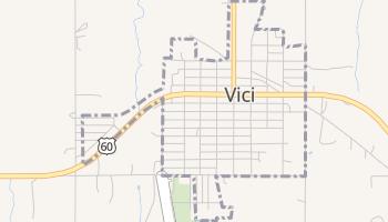 Vici, Oklahoma map