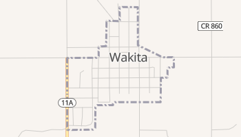 Wakita, Oklahoma map