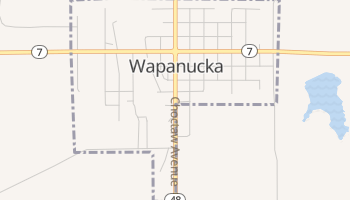 Wapanucka, Oklahoma map