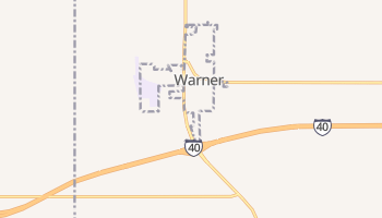 Warner, Oklahoma map