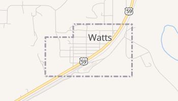 Watts, Oklahoma map