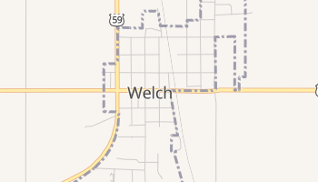 Welch, Oklahoma map