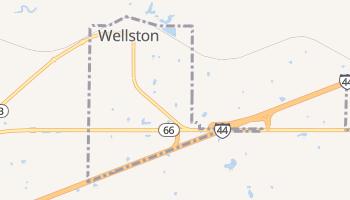 Wellston, Oklahoma map