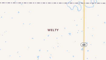 Welty, Oklahoma map