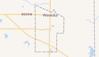 Wewoka, Oklahoma map