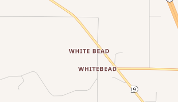 White Bead, Oklahoma map