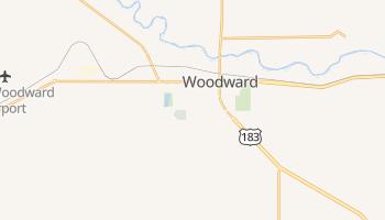 Woodward, Oklahoma map