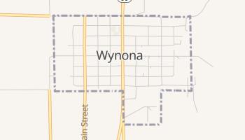 Wynona, Oklahoma map